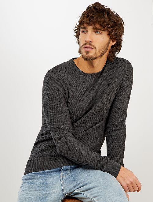Jersey de algodón 'eco-concepción'                                                     GRIS