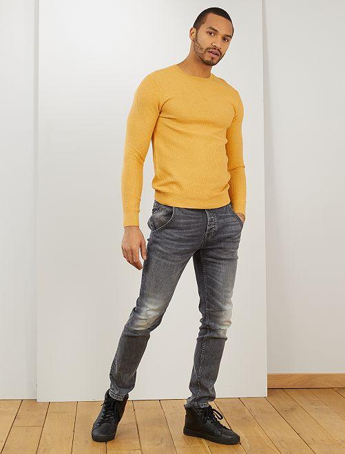 Jersey de algodón 'eco-concepción'                                                     MARRON