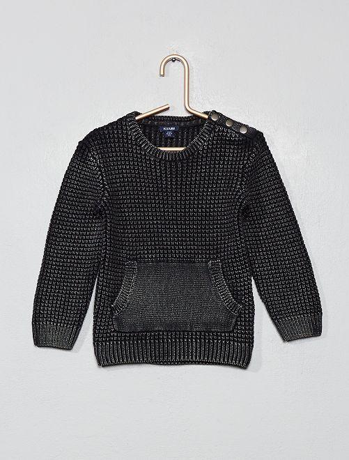 Jersey de algodón puro                     gris oscuro