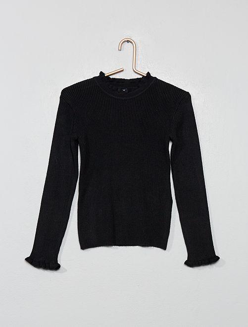 Jersey de canalé fino                                                     negro