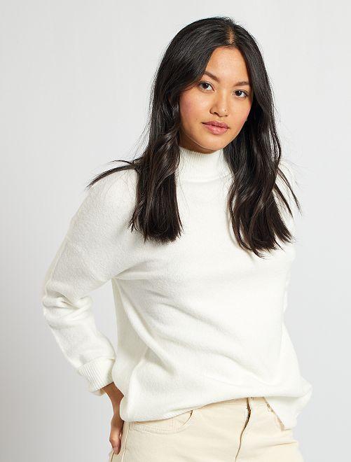 Jersey de cuello alto                                                                             blanco nieve