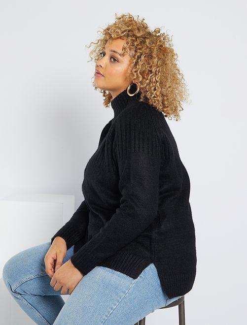 Jersey de cuello alto                             negro