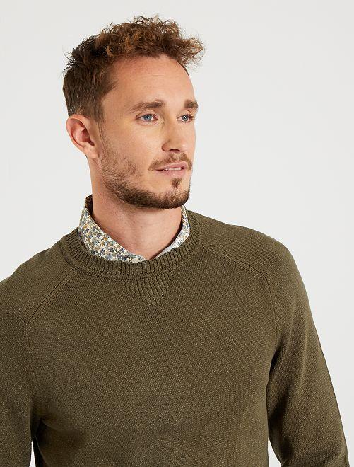 Jersey de cuello redondo eco-concepción +1,90 m                             KAKI