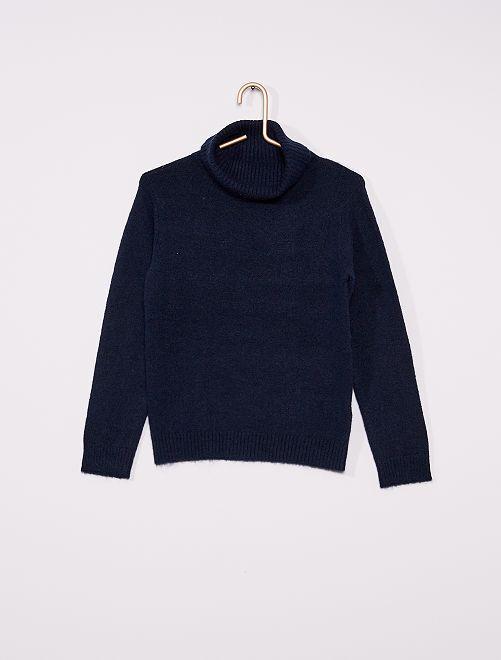 Jersey de cuello vuelto                                                                 azul