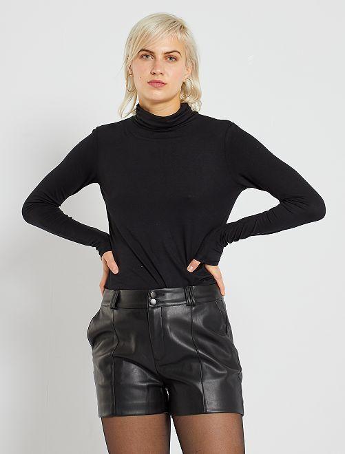 Jersey de cuello vuelto                                                     negro