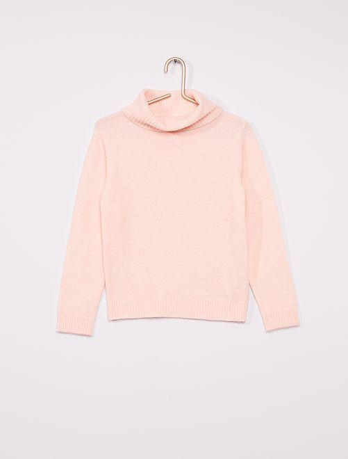 Jersey de cuello vuelto                                                                 rosa claro