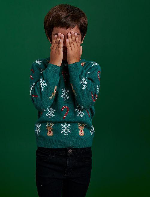 Jersey de estilo 'Navidad'                                         VERDE