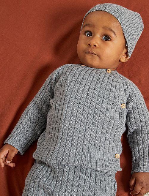 Jersey de lana 'La Manufacture de Layette'                                         gris chiné