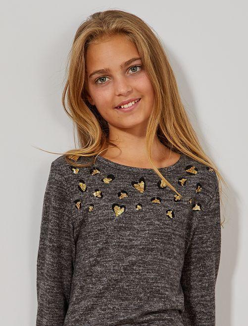 Jersey de lentejuelas doradas                                         GRIS
