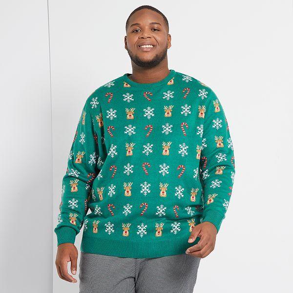 Jersey De Navidad Tallas Grandes Hombre Verde Kiabi 15 00