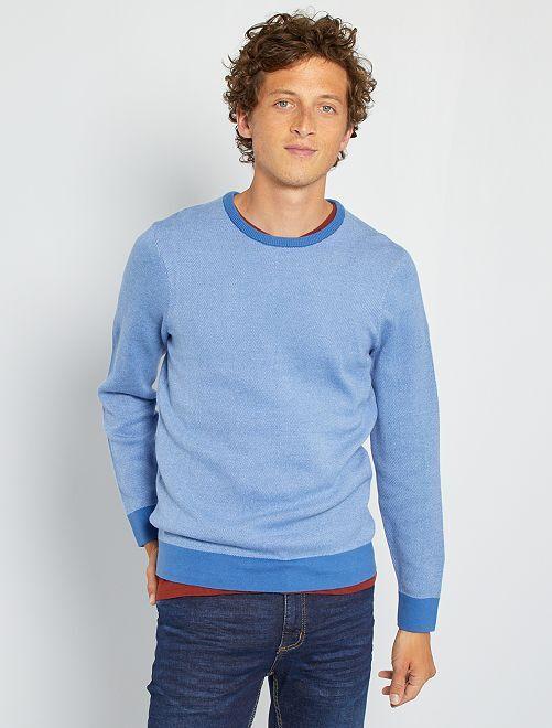 Jersey de punto bicolor                             AZUL