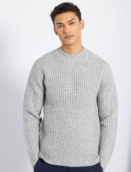 Jersey de punto bicolor                             gris