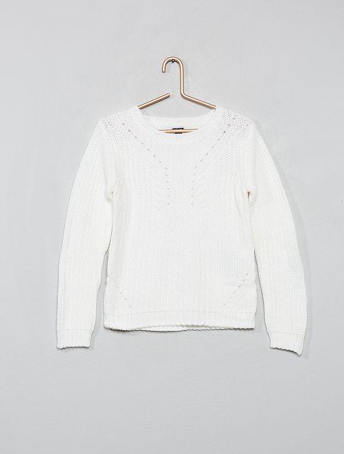 Jersey de punto                                                                             blanco nieve