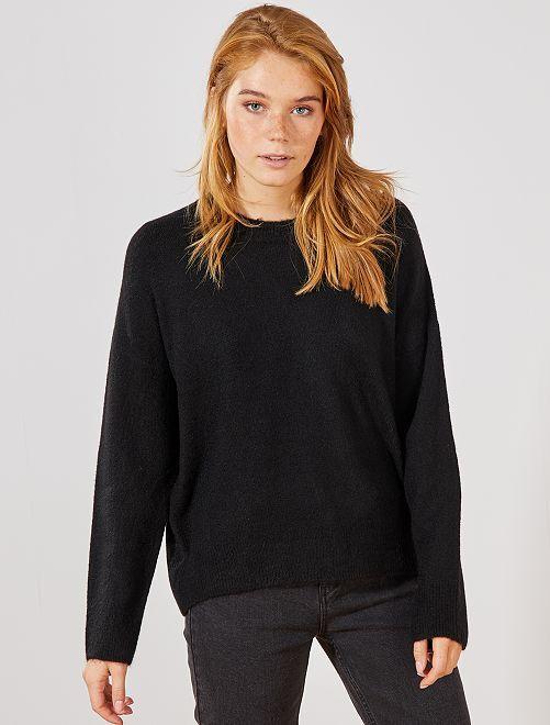 Jersey de punto bobo                                                                             negro Mujer talla 34 a 48