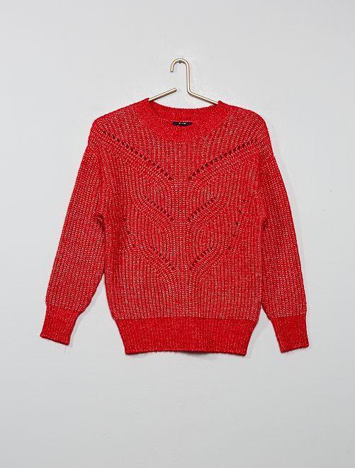 Jersey de punto calado                                                                             rojo