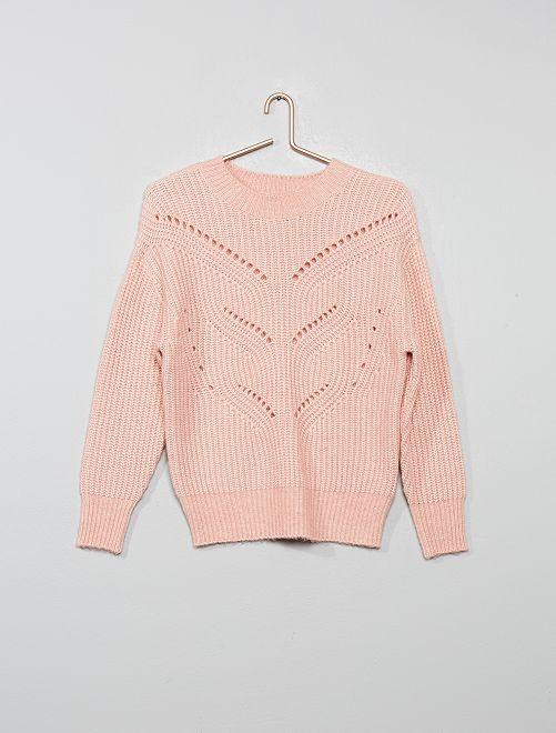 Jersey de punto calado                                                                 rosa