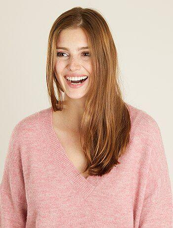Mujer talla 34 to 48 - Jersey de punto con cuello de pico - Kiabi