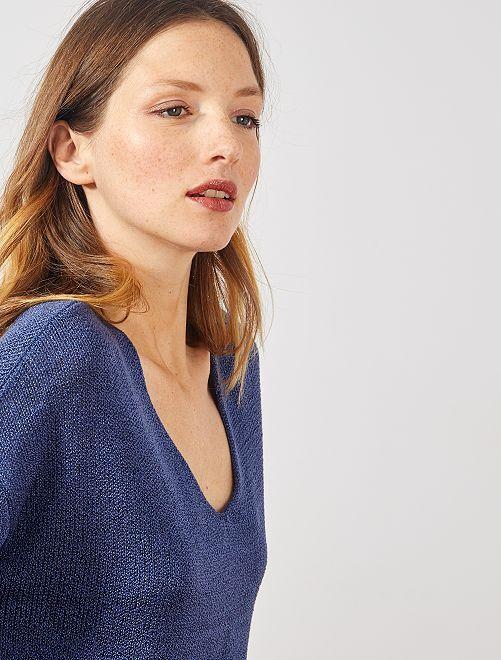 Jersey de punto de rizo                                                                             azul cobalto