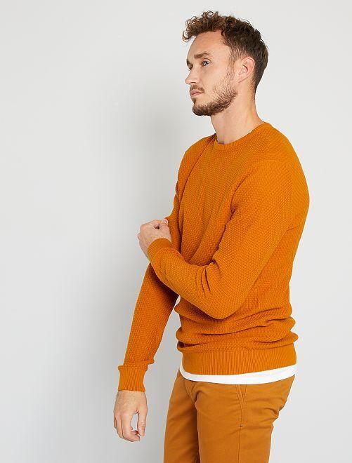 Jersey de punto eco-concepción +1,90 m                     marrón