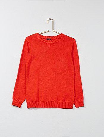 Jersey de punto fino con cuello redondo - Kiabi
