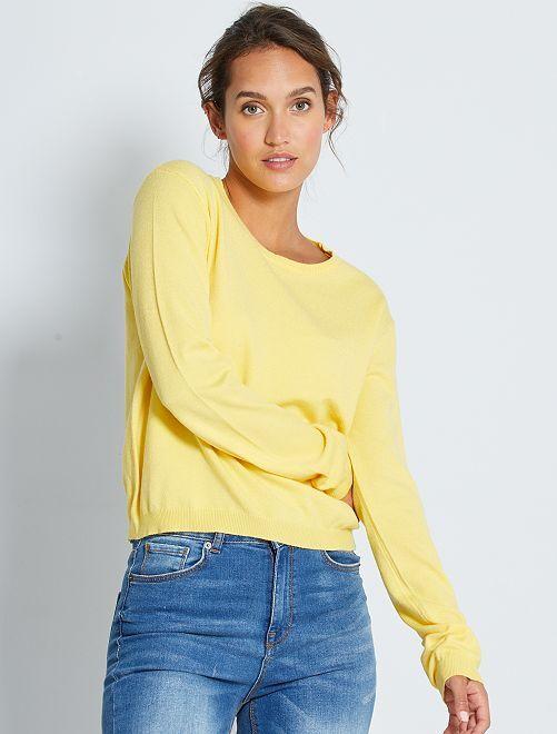 Jersey de punto fino liso                                                                                                                                         amarillo mimosa