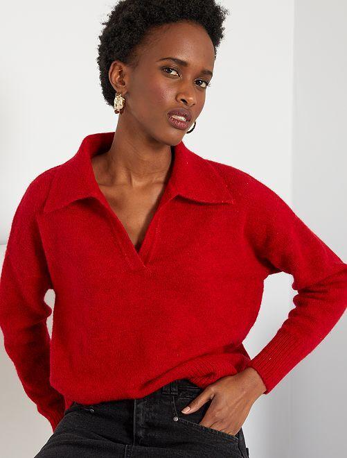 Jersey de punto fino                                                                 rojo
