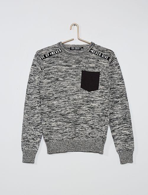 Jersey de punto                             gris