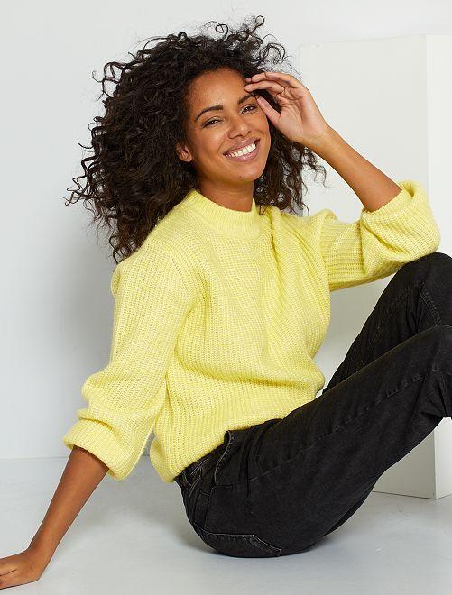 Jersey de punto grueso                                                                             amarillo