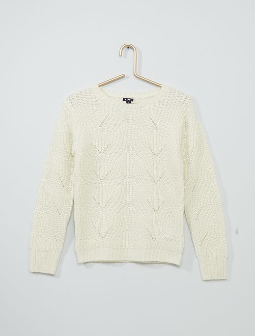 Jersey de punto grueso                                                                                         blanco nieve