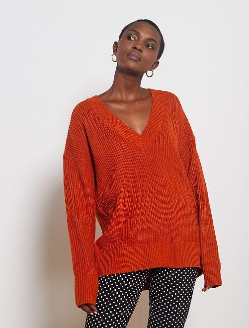Jersey de punto grueso                                                                 naranja