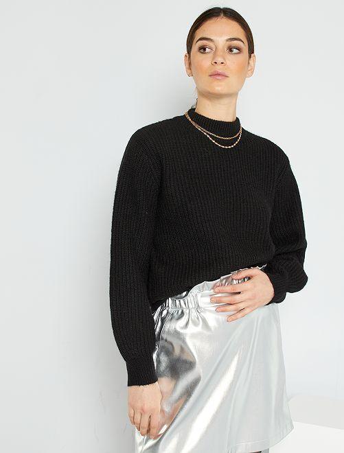 Jersey de punto grueso                                                                             negro