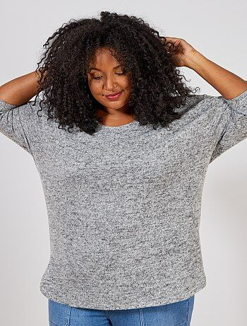 Tallas grandes mujer - Jersey de punto jaspeado - Kiabi b3a6c22410a