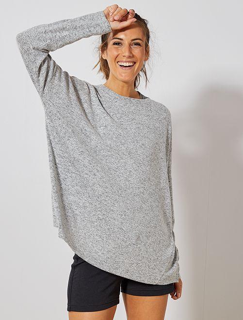 Jersey de punto suave                             GRIS Mujer talla 34 a 48