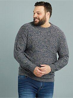 Jersey de punto torcido con cuello redondo