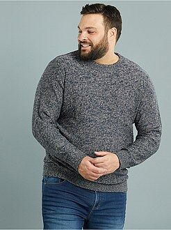Jerséis cuello redondo - Jersey de punto torcido con cuello redondo