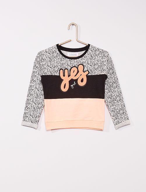 Jersey de punto tricolor                             gris/rosa