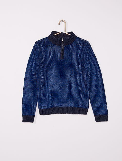Jersey de punto tricotado                             azul