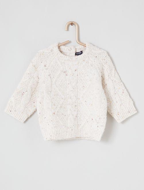 Jersey de punto tricotado                             BLANCO