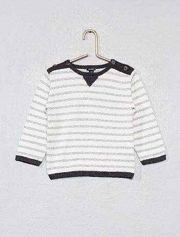 205bbc3c05c5e Jersey de rayas de algodón puro - Kiabi
