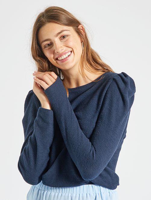 Jersey de tejido polar                                                                 azul