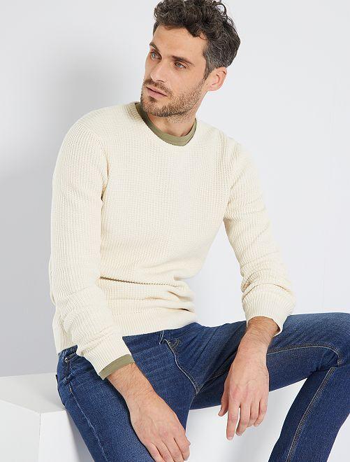 Jersey 'eco-concepción'                                                     beige