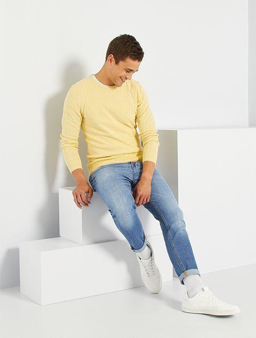 Jersey entrelazado eco-concepción                                                     amarillo suave