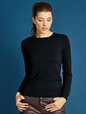 Mujer talla 34 to 48 - Jersey fino con acabado ondulado - Kiabi