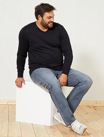 Jersey fino con cuello en V talla grande - Kiabi