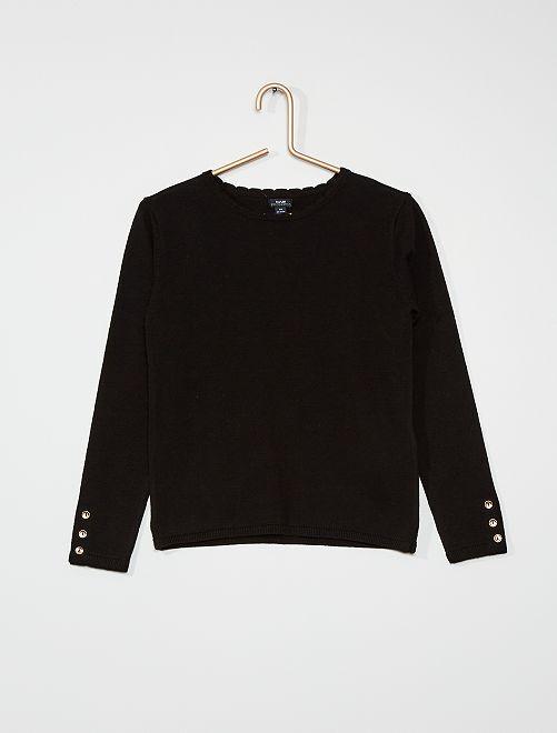 Jersey fino de algodón                                                                                                     negro