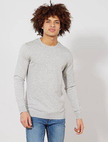8cdb8823098 Hombre talla S-XXL - Jersey fino de cuello redondo - Kiabi