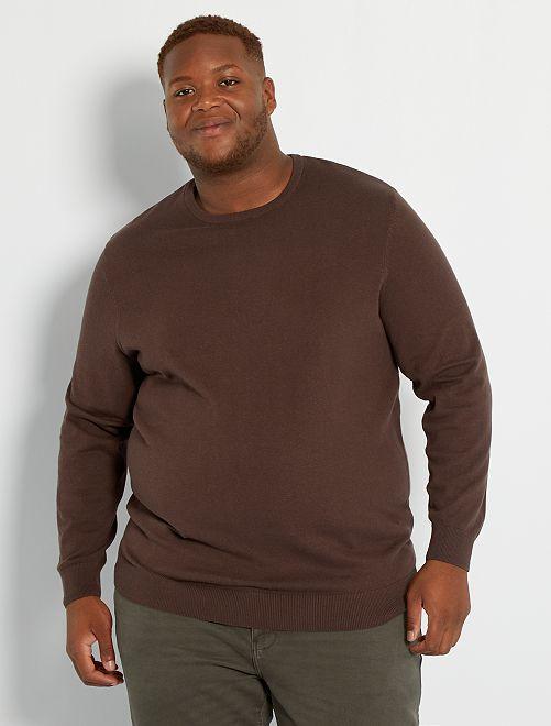 Jersey fino 'eco-concepción'                                         marrón oscuro