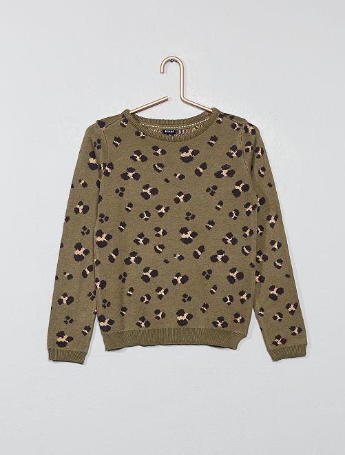 Jersey fino 'leopardo'                                                                                         KAKI