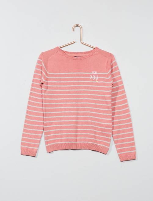 Jersey ligero                             a rayas rosa Chica