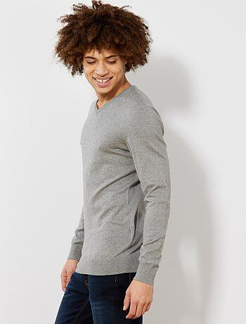 Jersey ligero con cuello de pico - Kiabi